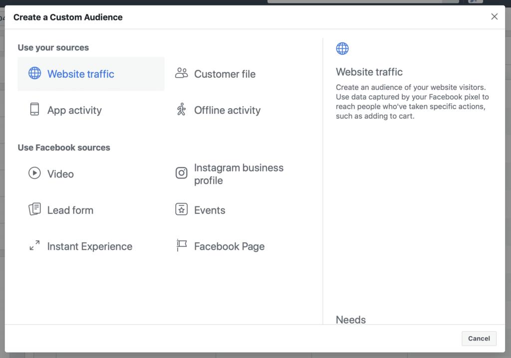 WCA Facebook targeting