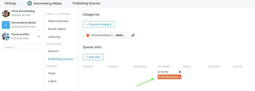 publishing queues and social media automation