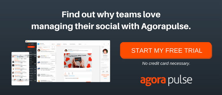 manage your social with agorapulse free trial