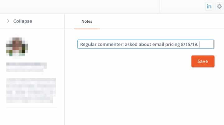 Link your LinkedIn inbox to your social CRM -- screenshot 10