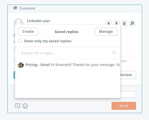 Manage your LinkedIn inbox with saved replies -- screenshot step 6