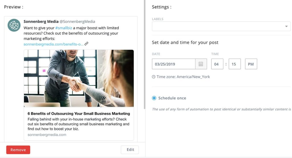 Preview content during your social media approval process