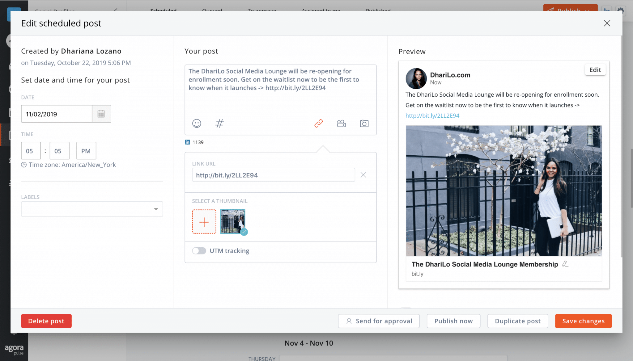 edit your scheduled post on linkedin