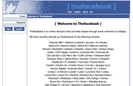 the facebook back in the day