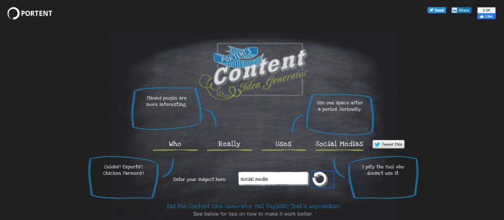portent social media content tool
