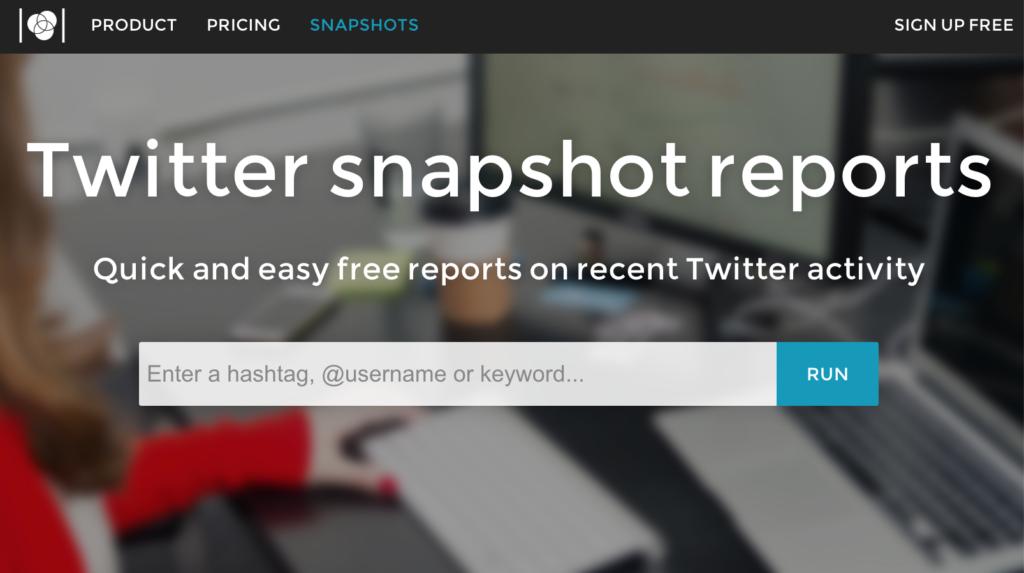Twitter snapshot reports