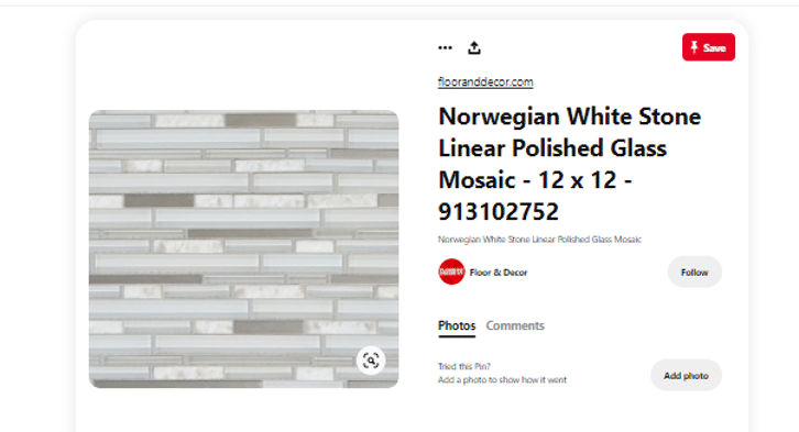 example of floor & decor's boards for pinterest for business