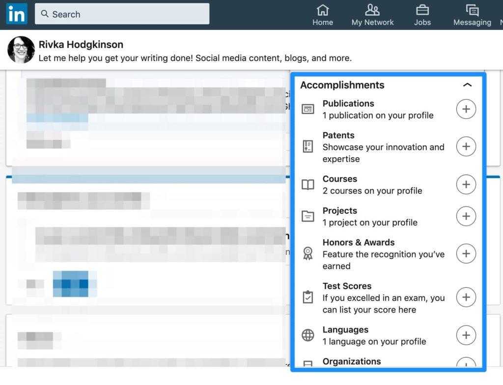 LinkedIn accomplishments LinkedIn 101