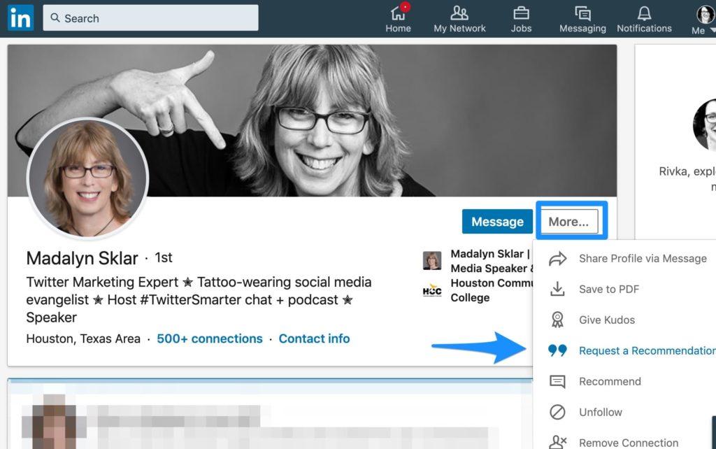 LinkedIn recommendation LinkedIn 101