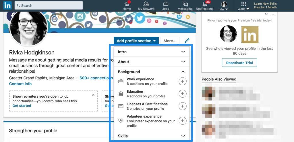 LinkedIn 101 banner image example
