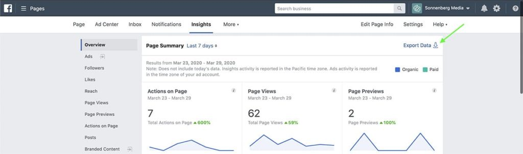 review Facebook Insights with Facebook Business Manager
