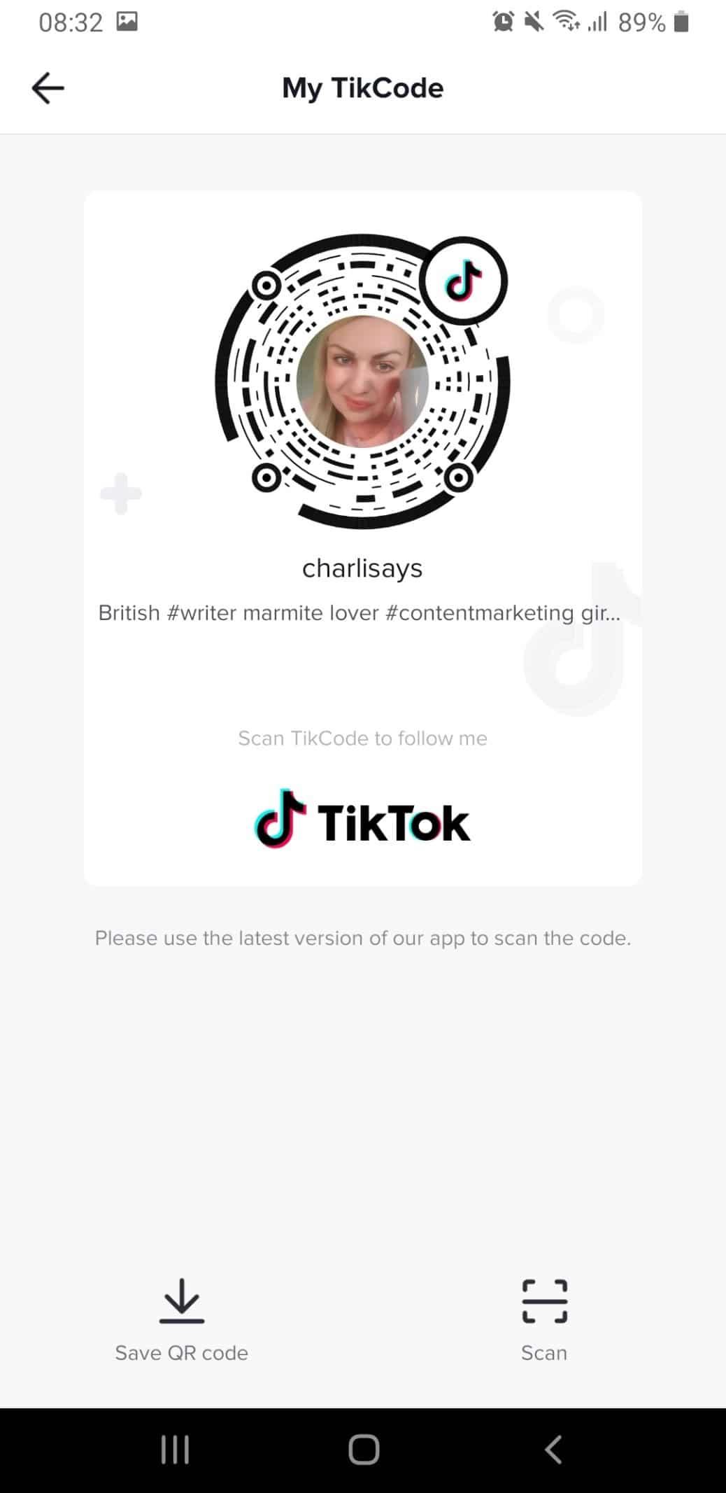 charli says tiktok marketing account
