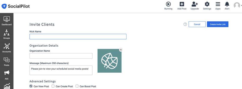 social media management tool Socialpilot -- screenshot of user interface