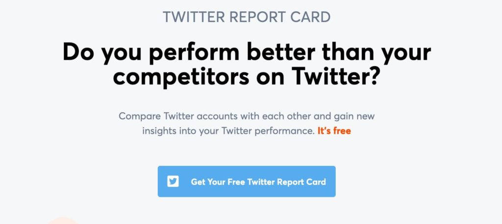 do you perform better than your competitors on twitter?