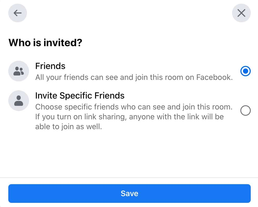 who is invited in facebook messenger room