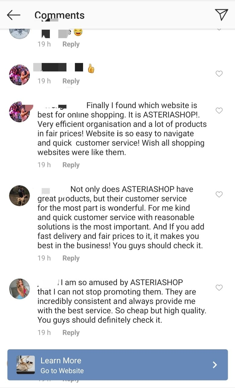 example of psychological social media trick of social proof
