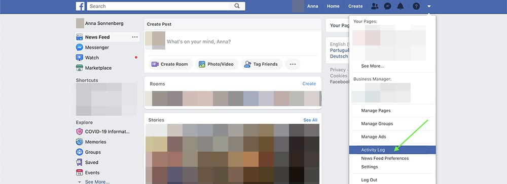 how to unhide a Facebook post on desktop - step 2a