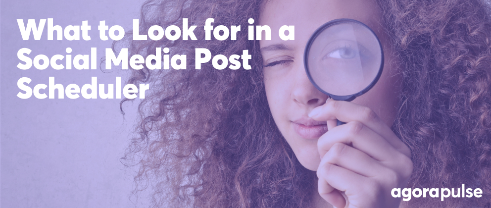 header image for article about what to look for in a social media post scheduler