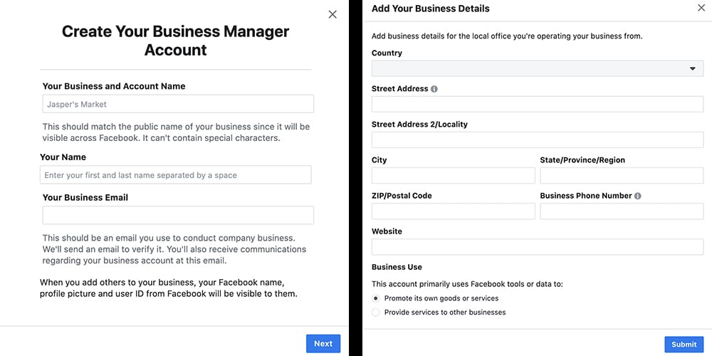 how to create your Facebook Business Manager account