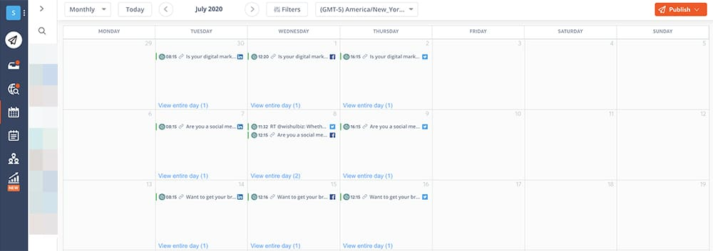 scheduling content for social media managers