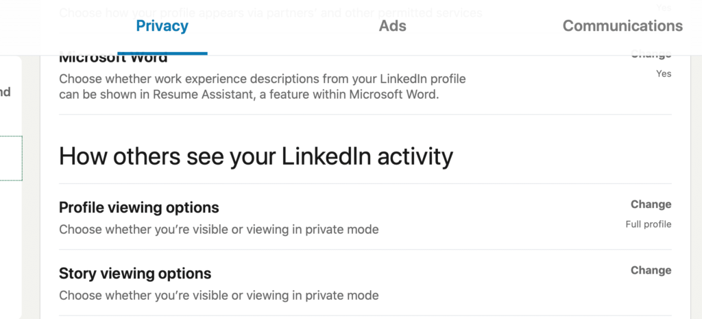 find out how others see your linkedin activity