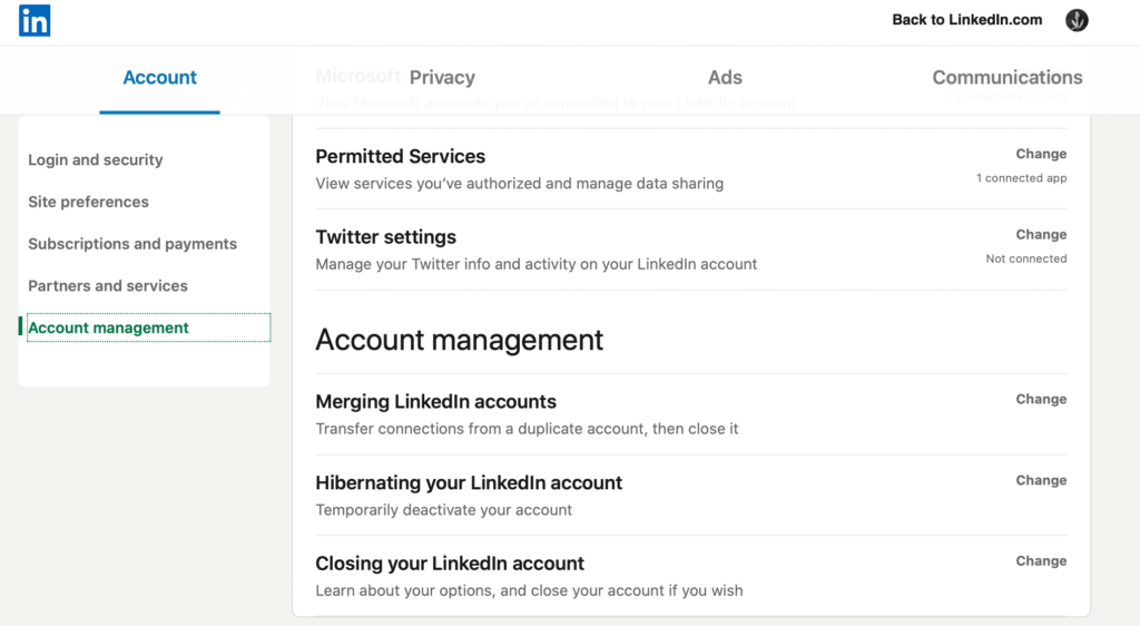 manage your linkedin profile