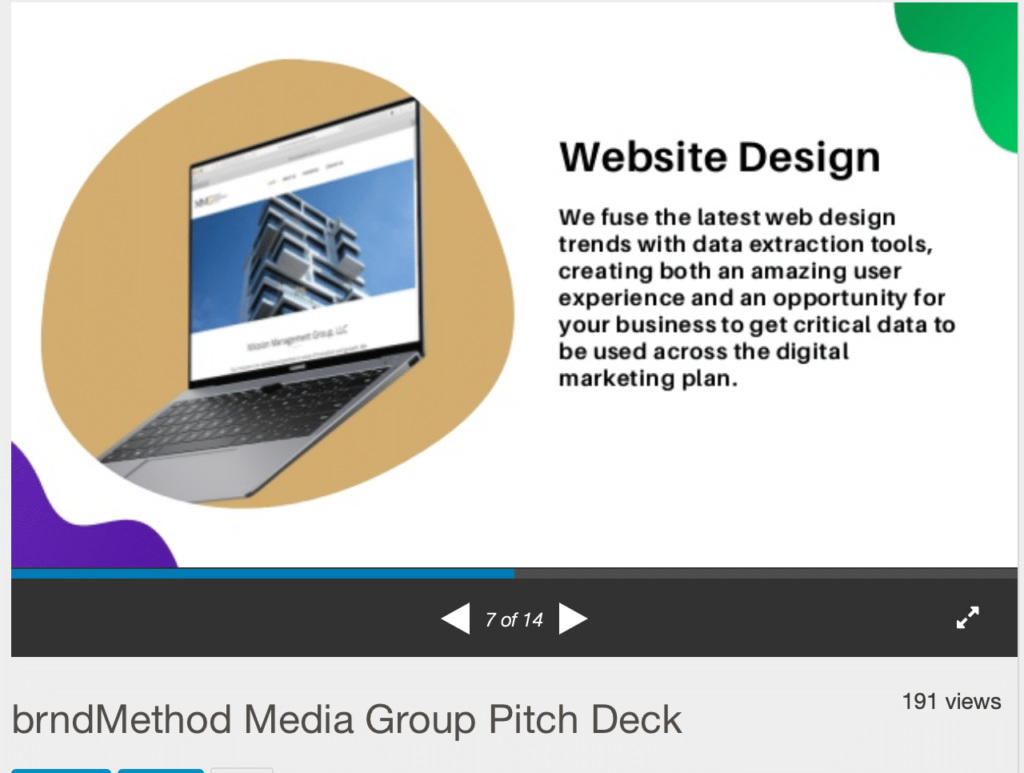 example of transparency of services in an agency pitch deck