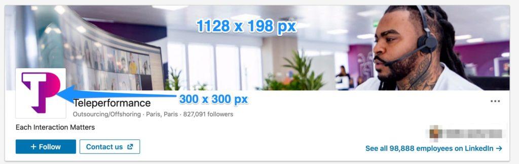LinkedIn Business Profile ideal sizes