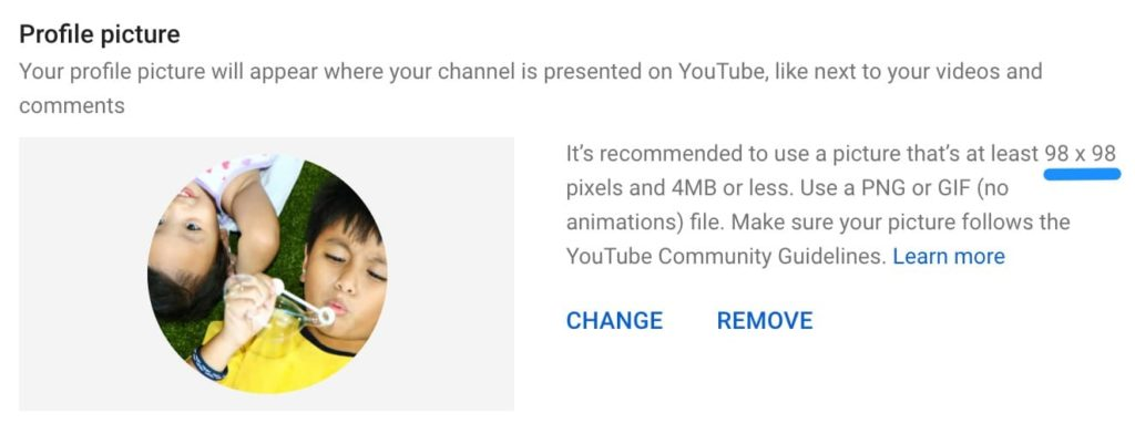 youtube profile pic
