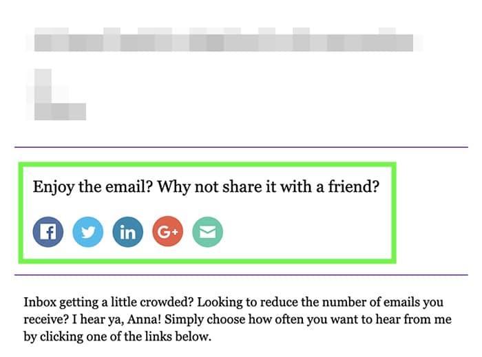 social sharing links