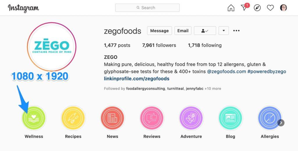 Instagram profile pic size