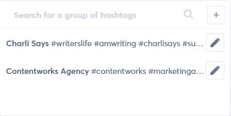 hashtag lists