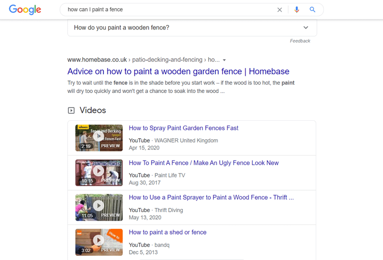 example from homebase on seo writing