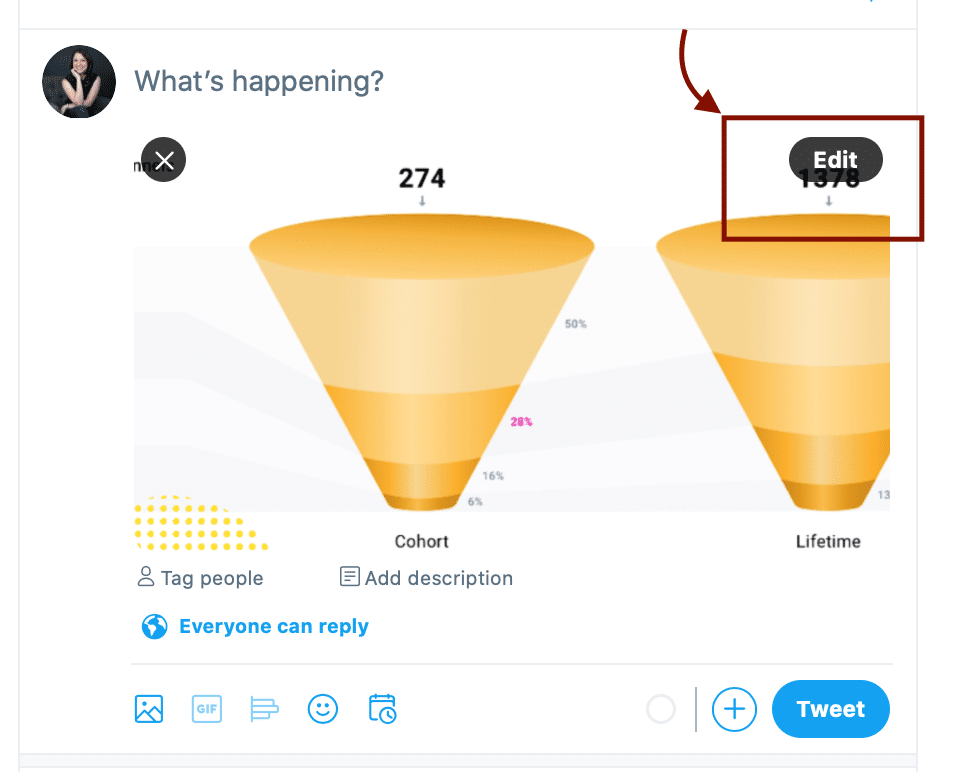 how to edit an image on twitter