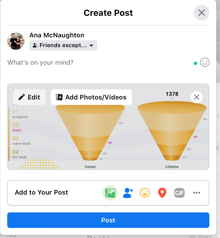image of how to add photos and videos to Facebook