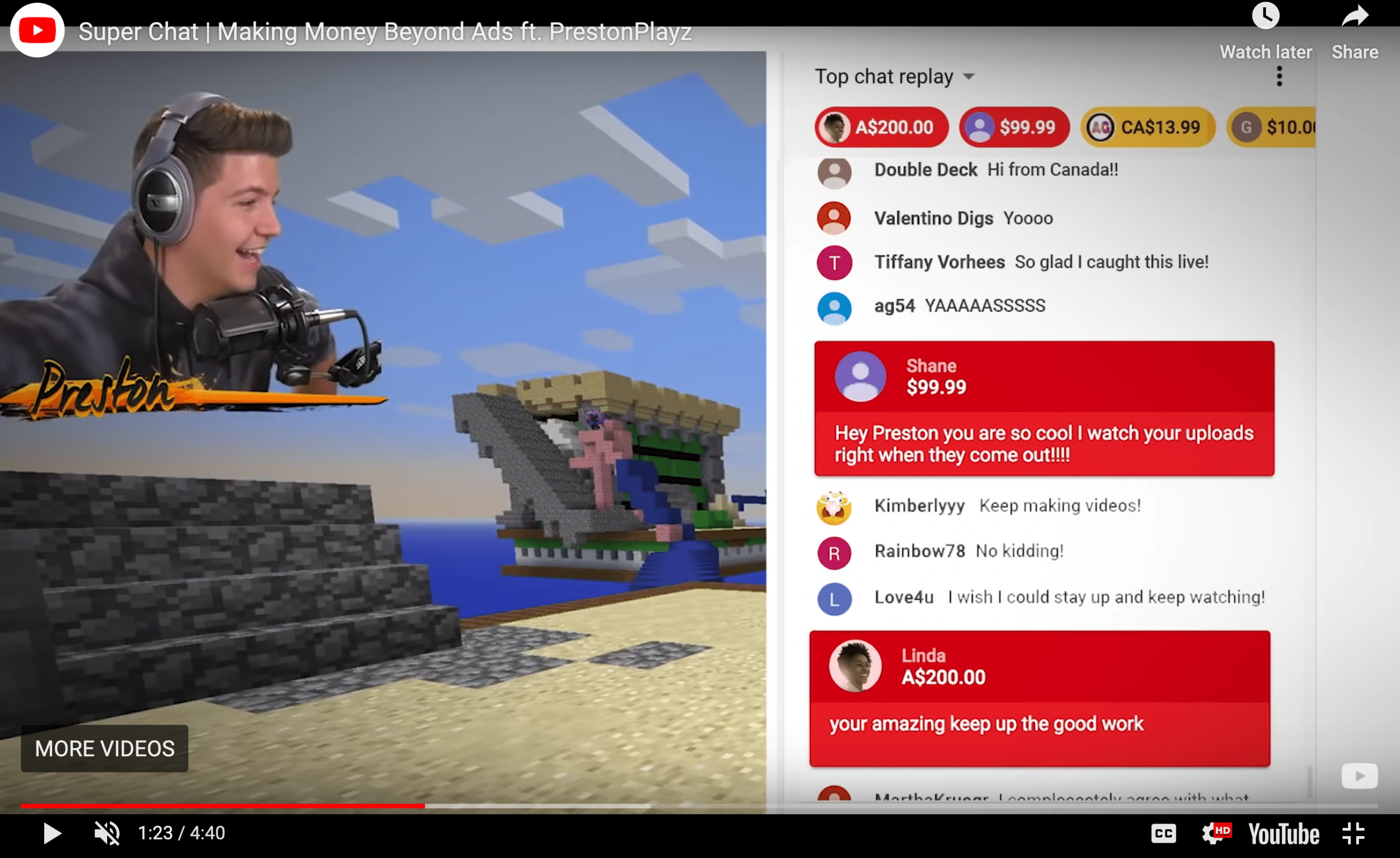 Superchats for how to monetize your youtube channel