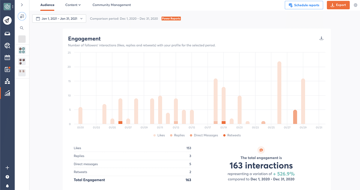 Agorapulse social media reports templates for agencies