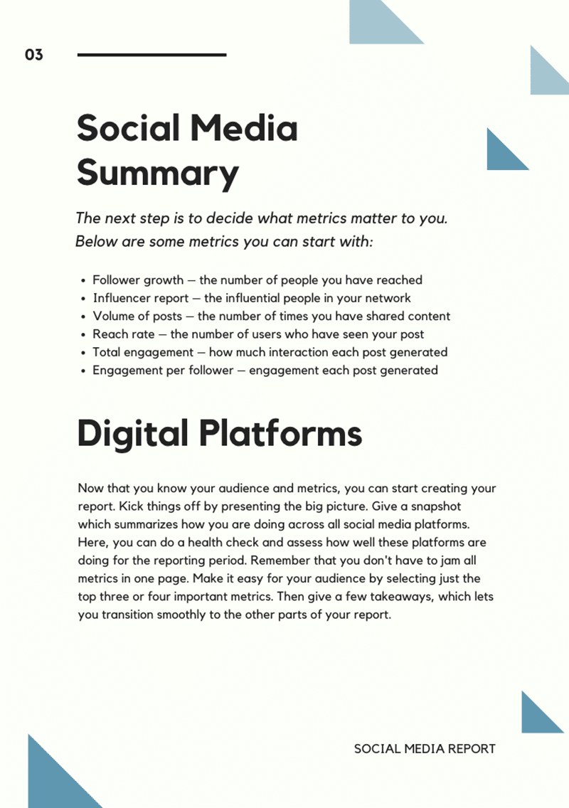 Canva social media services template