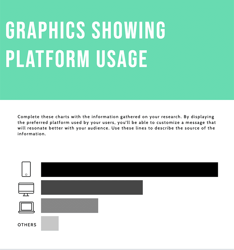Piktochart audience report template