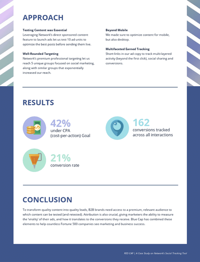 Venngage social media case study template
