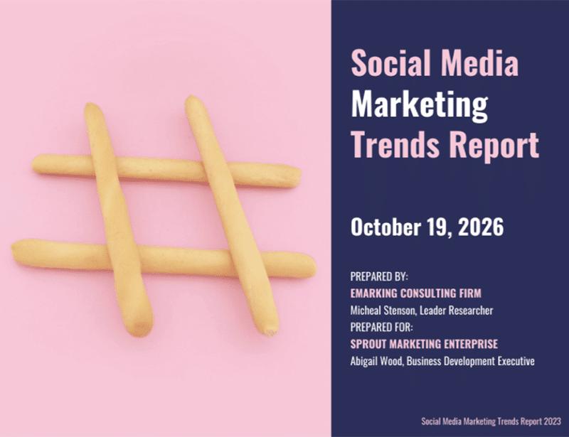 Venngage social media report template