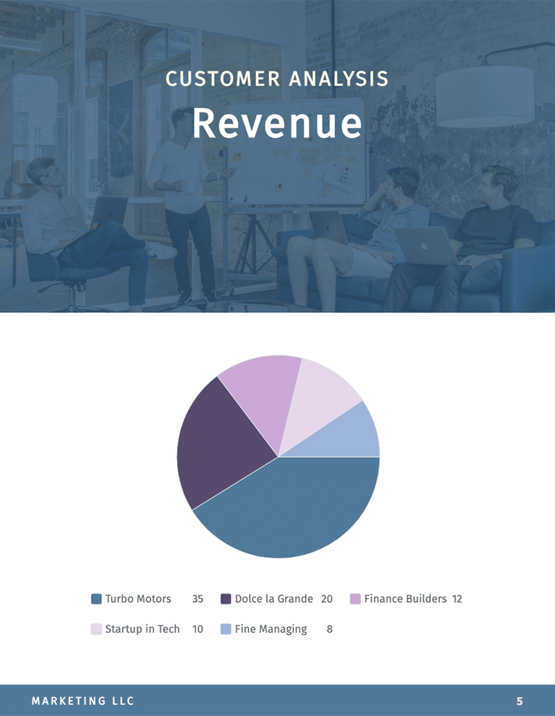 Visme monthly report template