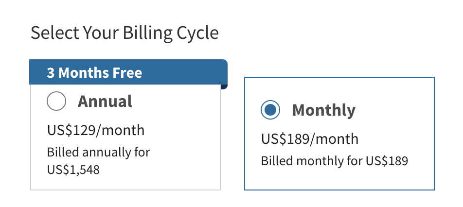 Hootsuite pricing plan for monthly