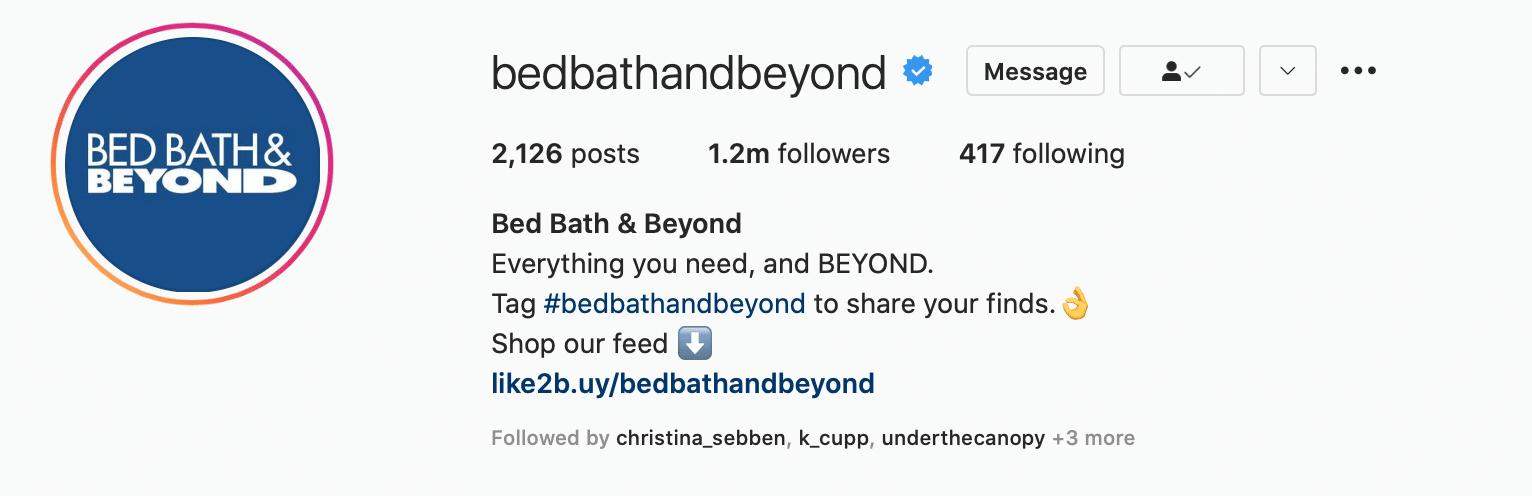Blue checkmark showing verification on Instagram