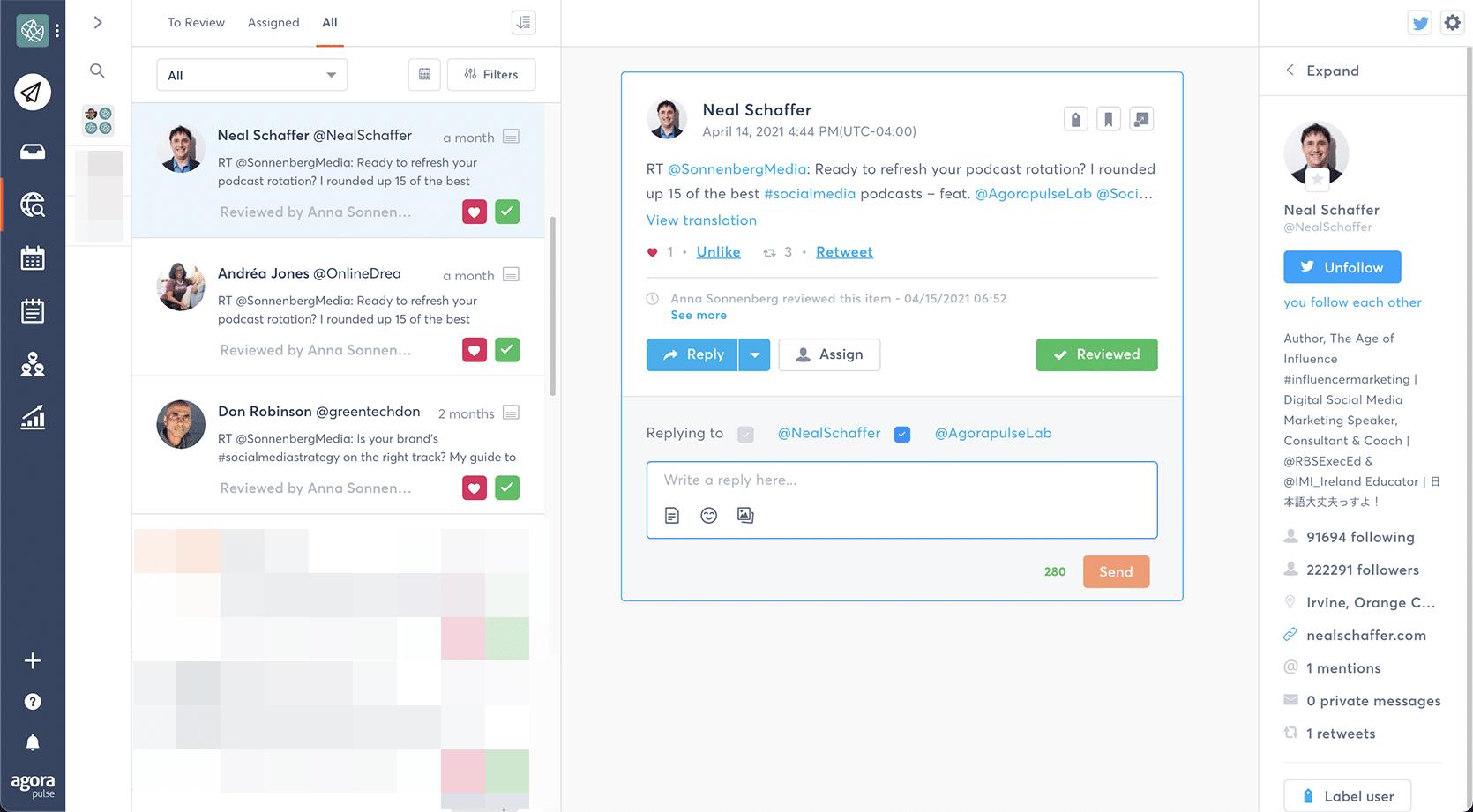 Agorapulse - how to check brand mentions