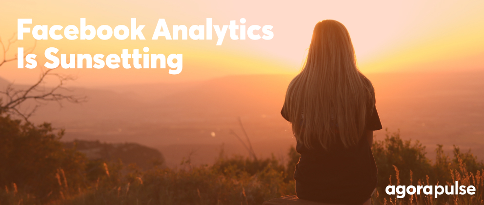 header image for facebook analytics is being sunsetting showing a sunset
