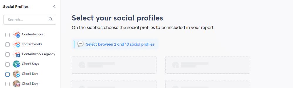screenshot fo social profiles