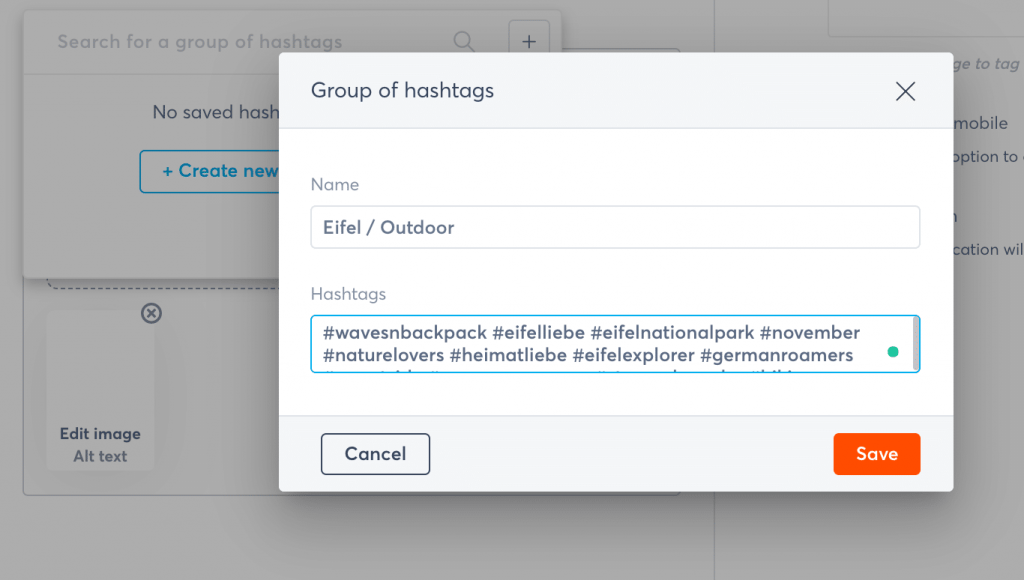 Hashtag-Gruppen