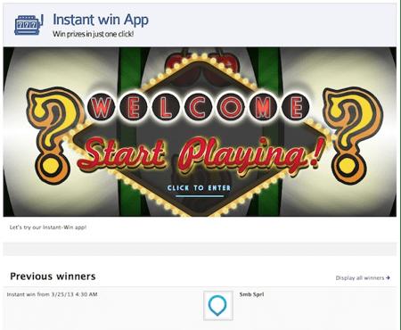 Instant Win App