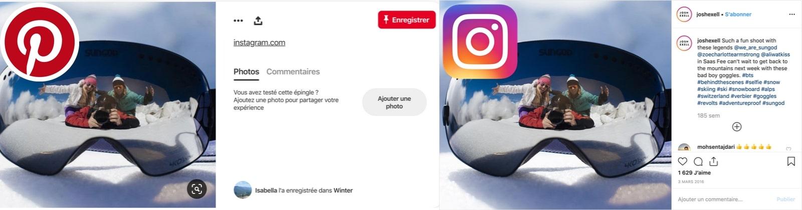 pinterest instagram